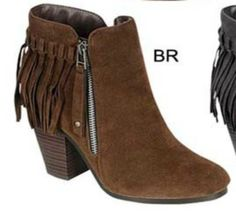 Brown Suede Fringe Booties http://www.rhinestonegal.com/catalog.php?item=3633