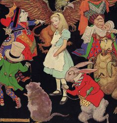 Alice In Wonderland by Jessie Willcox Smith. Please visit my Facebook page at: www.facebook.com/jolly.ollie.77