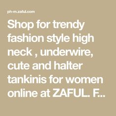 Shop for trendy fashion style high neck , underwire, cute and halter tankinis for women online at ZAFUL. Find the newest styles best and cute tankinis with affordable prices. Tankini Swimsuits For Women, Plus Size Swimwear, Push Up Bikini, Bandeau Bikini, Nadine Lustre Bikini, Tie Dye Fashion, Swimwear Sale, Tankinis