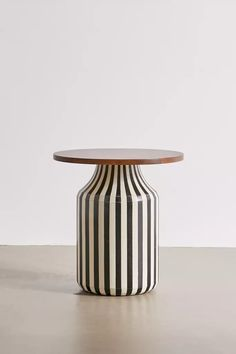 Shop Bandera Side Table at Urban Outfitters today. Side Table Decor, Modern Side Table, Round Side Table, Table Decorations, Wood Side Tables, Pedestal Side Table, Painted Side Tables, Side Tables Bedroom, Contemporary Side Tables
