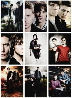 Promo photos Season 1-9. Those Winchester brothers are just as hot as they were from day 1.