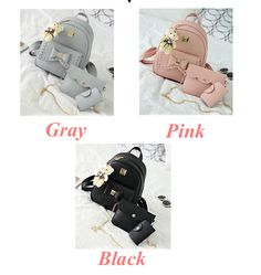 Cheap Lovely Bear Pendant PU School Backpacks Gray Pink Splicing Bowknot School Bag For Big Sale! Lace Backpack, Retro Backpack, Backpack For Teens, Fashion Backpack, Fashion Bags, School Bags For Girls, Girls Bags, Boys Backpacks, School Backpacks