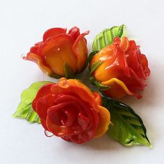 #roses #розы #lampwork #my365beads2017  #beading #petrovnalampwork #handmade  #лэмпворк #бусины #стекло