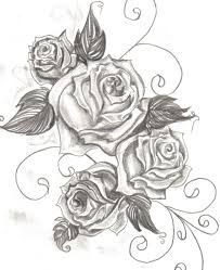 thigh tattoo with roses - Google Search