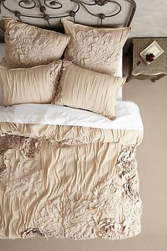 Floral ebroidered duvet set from anthropologie