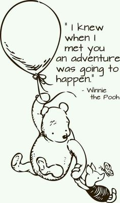 I love the classic Winne the pooh! I still have a blanket of pooh that I got when I was two. I plan on making a quilt for my children in the future The Words, When I Met You, Winnie The Pooh Quotes, Winnie The Pooh Drawing, Winnie The Pooh Classic, Disney Winnie The Pooh, My Sun And Stars, Youre My Person, Pooh Bear