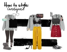 """""""How 2 style: cardigans"""" by lise-sorensen on Polyvore featuring Maison Margiela, MANGO, Linda Farrow, UGG, River Island, Charlotte Russe, Boohoo, Vans, Valentino and Humble Chic"""