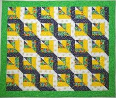 Quilt Tutorial Twisted Rail. Really like the look of this! Exuberant Color: Twisted Rail tutorial