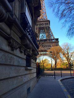 The Eiffel Tower from Avenue de la Bourdonnais
