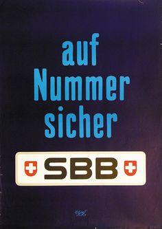 Herbert Leupin / SBB - auf Nummer sicher / 1976