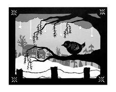 Warm Spot - Cut Paper Art Print