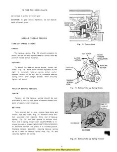 """Singer 221 Sewing Machine Service Manual.  Manual includes:  * Machine Lubrication * Motor Lubrication * Setting Feed Dog Height * Setting Needle Bar Height * Timing The Hook * Adjusting The Needle Thread Tension * Adjusting The Bobbin Winder Pressure * Removal and Replacement Of The Bobbin Case  This is a service manual. If you need the instruction manual, please look in our store.     Also has a page for Sewing Difficulties """"Hints for adjusters and mechanics""""."""