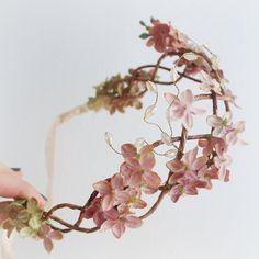 Scarborough fair - velvet millinery floral crown