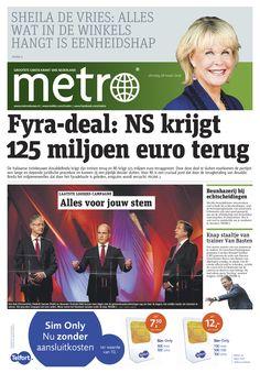 Elke dag gratis op je tablet: Dagblad Metro. De gratis krant met nieuws, entertainment en andere onderwerpen die gericht zijn op een hoogopgeleide doelgroep met brede interesses. Metro brengt je relevant nieuws, kort, bondig en onpartijdig over allesomvattende gebeurtenissen op wereldniveau tot aan lokaal nieuws op de hoek van de straat. Te downloaden en te lezen via de #BrunaTablisto app. #krant #lezen