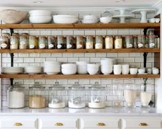 10 Tips on How to Build the Ultimate Farmhouse Kitchen Design Ideas Love the ideas! Check the website for more farmhouse kitchen design. 🙂 Source by Swanfebvre Kitchen Pantry, Rustic Kitchen, Kitchen Decor, Open Pantry, Organized Kitchen, Open Shelf Kitchen, Kitchen Ideas, Kitchen Trends, Open Kitchen Cabinets