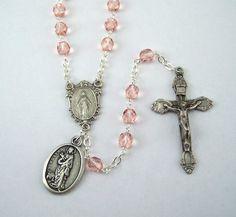 Saint Agatha Rosary Patron Saint of Breast by FaithHopeAndBeads