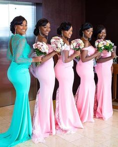 HOW TO WEAR AFRICAN BRIDESMAID DRESSES IN 2021? African Bridesmaid Dresses, Wedding Bridesmaid Dresses, Wedding Attire, Wedding Events, Ghana Wedding, Yellow Bridesmaids, Nigerian Weddings, African Weddings, African Fashion Dresses