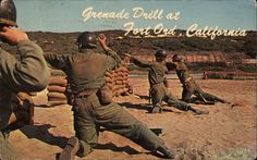 Vintage Fort Ord postcard circa 1960's. It looks like what we did in Basic Training at Fort Ord in 1970.