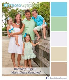 12 Marsh Grass Memories - Like the colors for this family beachy photo