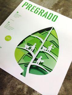 Papercraft - Brochure Pregrado UPC by Carla Eráusquin Bayona, via Behance
