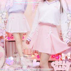 Japanese students sweet lolita pleated skirt