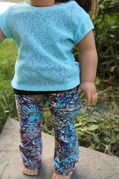 American Girl Doll Outfit  Modern printed jeans, top, and tank by HopscotchSundae, $26.00