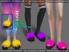 The Sims 4 Fluffly Slides Maxis, Sims 4 Mods Clothes, Sims 4 Clothing, Sims Four, Sims 4 Mm, Sims Free Play, Sims 4 Nails, Sims 4 Cc Eyes, Fluffy Slides