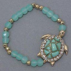 Kjl By Kenneth Jay Lane Simulated Turquoise Amp Aqua Crystal