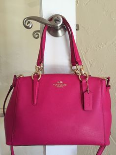Coach F36704 Mini Christie Carryall Pink Ruby Crossgrain Leather | eBay