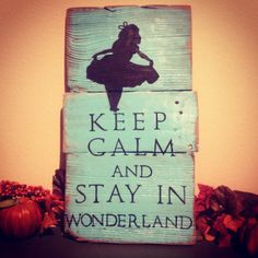 Check out this item in my Etsy shop https://www.etsy.com/listing/209155694/alice-in-wonderland-pallet-art