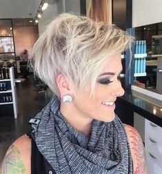 Image result for Platinum Razor Cut Pixie Hairstyles
