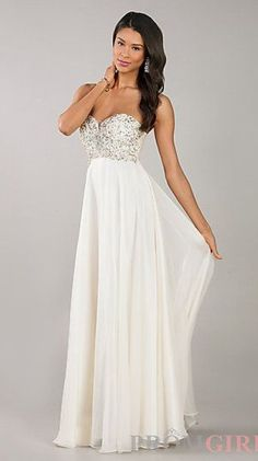 Strapless Sweetheart Floor Length Dress #fashion #prom #dresses