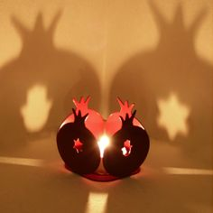 LOVE!! Rimon  A pomegranate candle holder  original Judaica by limoryaron, $21.00