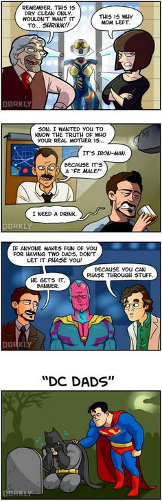 Comic dad jokes.