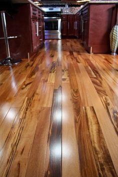 Exotic Brazilian Tigerwood Koa/ Prefinished - modern - wood flooring - minneapolis - Unique Wood Floors