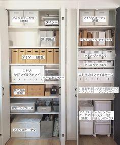 Dresser Drawer Organization, Home Organisation, Linen Closet Organization, Kitchen Organization, Kitchen Storage, Muji Storage, Storage Spaces, Locker Storage, Closet Layout