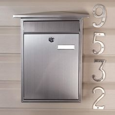 Home Locking Wall-Mount Mailbox - Stainless Steel