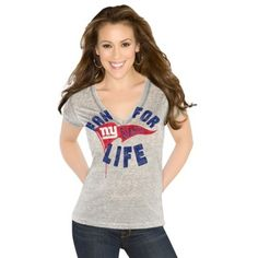 Women's New York Giants Majestic Charcoal On The Fifty Meant To ...