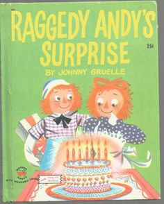 Vintage-Childrens-Wonder-Book-RAGGEDY-ANDYS-SURPRISE-Johnny-Gruelle