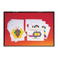 Pattern cards for pattern blocks.