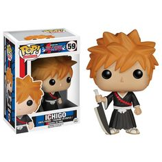 From the hit anime Bleach, Ichigo, as a stylized POP vinyl from Funko! Figure stands 3 inches and comes in a window display box. Check out the other Bleach and anime figures from Funko! Collect th Toy Art, Pop Vinyl Figures, Bleach Figures, Tokyo Ghoul Funko Pop, Anime Figures, Action Figures, Dreamworks, Hot Topic, Familie Symbol