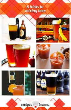 6 tricks to mixing beer: Black velvet, Banana Wheat Beer, Snakebite, Michelada, Blood Orange Shandy, Black and Tan