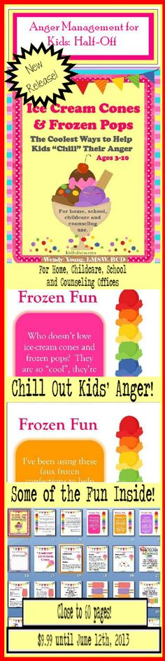 Anger Management for Kids.  Creative interventions to help kids deal with anger. Half-Off until June 12th.