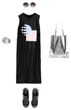 """Silver Lining"" by acommonspace ❤ liked on Polyvore featuring Quay, H&M and Tiffany Kunz"