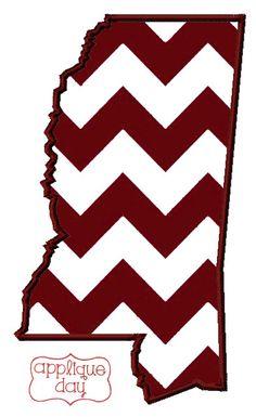 Mississippi State Digital Applique Design Instant by AppliqueDay, $4.00