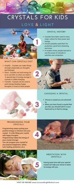 Crystals for Kids: Teaching Children about Crystal Energy for Healing & More - Love and Light School of Crystal Therapy loveandlightschoo...