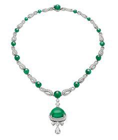 Bulgari collier Haute Joaillerie avec une émeraude de Zambie