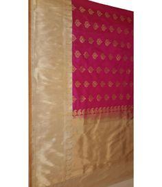 Red and Gold handloom Banarasi Pure Silk Saree