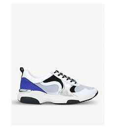 CARVELA | Linton mesh and suede sneakers #Shoes #Sneakers #Lace up #CARVELA