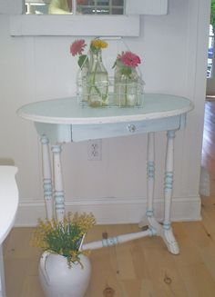 sold shabby chic furniture white aqua by backporchco on etsy
